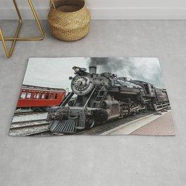 Strasburg Railroad Vintage Steam Locomotive Baldwin Train Engine Pennsylvania Rug