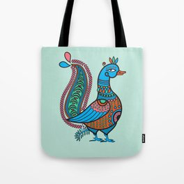 Ethnic Art Colorful Indian Bird Tote Bag