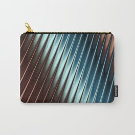 Stripey Pins Teal & Taupe - Fractal Art Carry-All Pouch