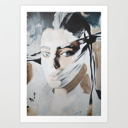 abstract / portrait Art Print