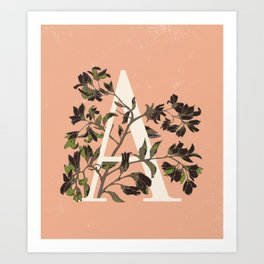 Letter A for Amelanchier Art Print