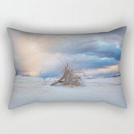 Adrift - Lone Tree In White Sands New Mexico Rectangular Pillow