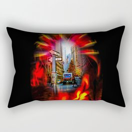 Christmas Shopping New York Rectangular Pillow