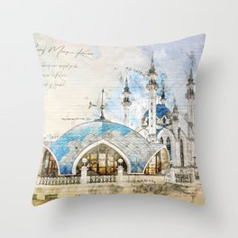 Kul Sharif Mosque, Kazan Throw Pillow