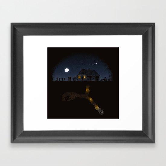 Minecraft: Always Digging Framed Art Print