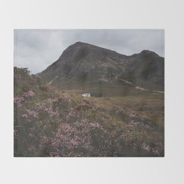 The moorland house - Landscape and Nature Photography Throw Blanket