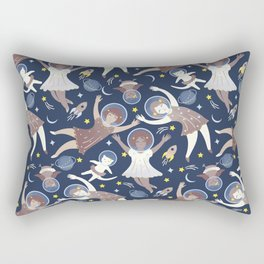 Girls in space Rectangular Pillow