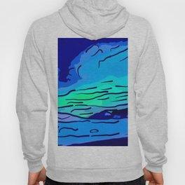 abstract style aurora borealis absstd Hoody