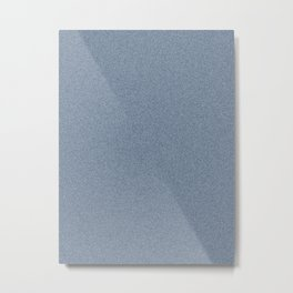 Dense Melange - White and Oxford Blue Metal Print