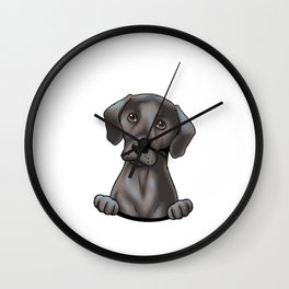 Labrador Retriever Gift Yellow Black Labs Matter Gift Print Wall Clock