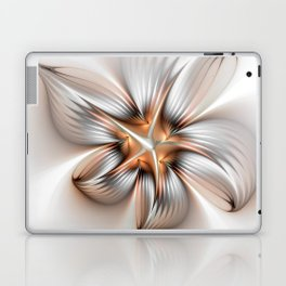 Elegance of a Flower, modern Fractal Art Laptop & iPad Skin