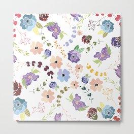 Floral Pattern II Metal Print