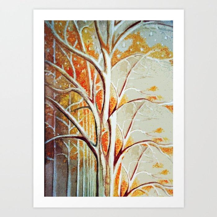 Fall Tree Leaves Art Print