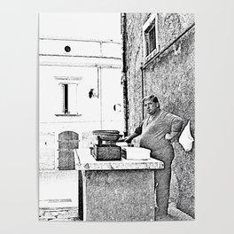 Vulture: fish vendor Poster