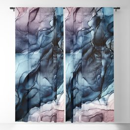 Blush and Darkness Abstract Paintings Blackout Curtain