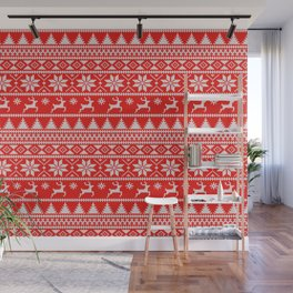 Fair Isle Christmas Wall Mural