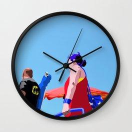 Super...on the beach Wall Clock