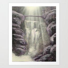 Purple Waterfall Art Print