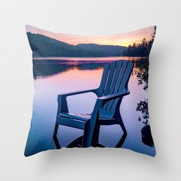 Sunsets & Summer Nights at the Cottage Throw Pillow
