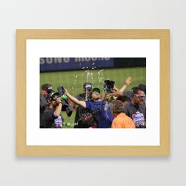 Clinching the AL West Framed Art Print