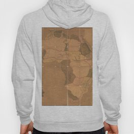 Vintage Map Print - 1802 map of Africa by Aaron Arrowsmith Hoody