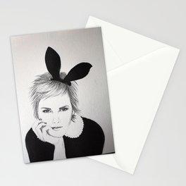 'Emma Watson' Bunny Ears Illustration Stationery Cards