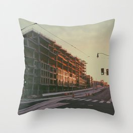 Sunlit D.C. Construction Throw Pillow