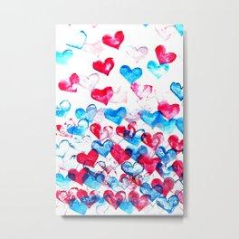 Flying hearts Metal Print