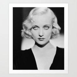 Carole Lombard classic black and white photograph Art Print
