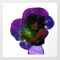 Shrinking Violet Art Print