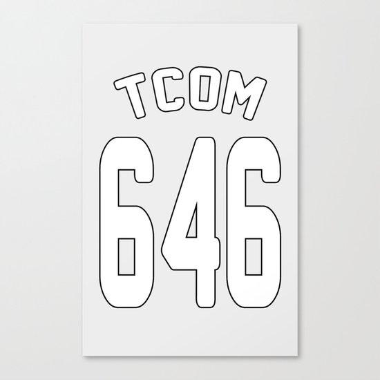 TCOM 646 AREA CODE JERSEY Canvas Print