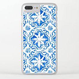 Hampton blue Clear iPhone Case