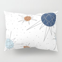 Atomic Stars Blue & Orange Pillow Sham