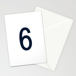 NUMBER 6 (NAVY BLUE-WHITE) Stationery Cards
