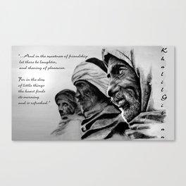 FRIENDSHIP quote Canvas Print