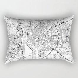 Seville Map White Rectangular Pillow