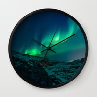 aurora Wall Clocks featuring Aurora by StayWild