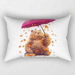 autumn bear Rectangular Pillow