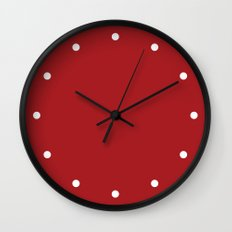 Dots Red Wall Clock
