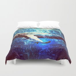 A Whimsical Reunion Duvet Cover