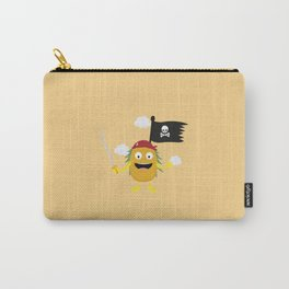 Pineapple Pirate with Flag T-Shirt Dyrdv Carry-All Pouch