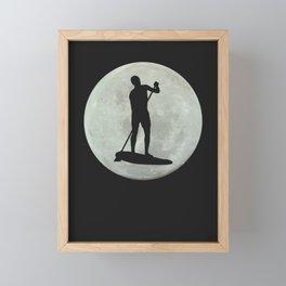Moon PaddleBoarder  Framed Mini Art Print
