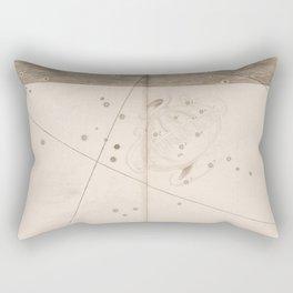 Johann Bayer - Uranometria / Measuring the Heavens (1661) - 41 Crater / The Cup Rectangular Pillow
