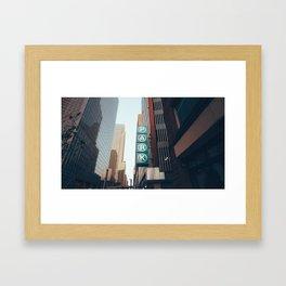 City Parking Framed Art Print