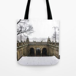 NYC Blizzard of 2015 in Central Park Tote Bag