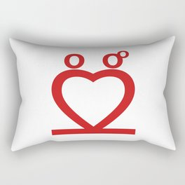 Two Love Rectangular Pillow