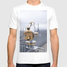 A view of Paris Mens Fitted Tee White MEDIUM
