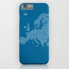 Europe map - blue Slim Case iPhone 6s