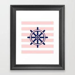 AFE Nautical Helm Wheel 2 Framed Art Print