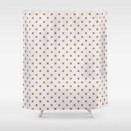 Elegant white modern faux gold glitter polka dots Shower Curtain